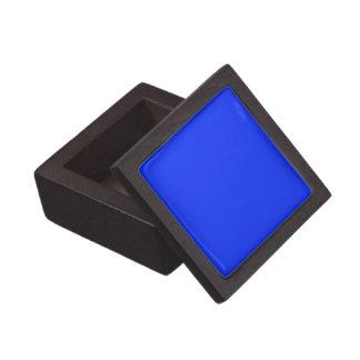 Boxas den högvärdiga gåvan för fasta ljusa blått premie smyckeskrin