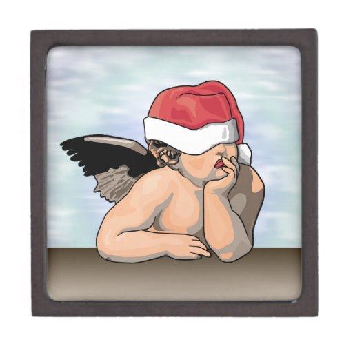 Boxas den högvärdiga gåvan för julängeln premie prydnadslåda