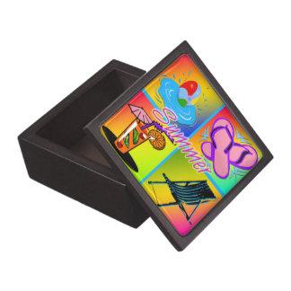 Boxas den högvärdiga gåvan för sommarCollage Premie Presentförpackningar