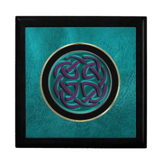 Boxas den metalliska Celtic fnurran för turkos på Smyckeskrin