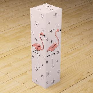 Boxas den rosa gåvan för flamingoen vin vinlåda