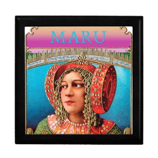 Boxas den stora minnessaken Maru för den exotiska Smyckeskrin
