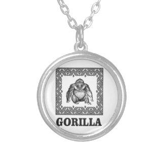 boxas gorilla silverpläterat halsband
