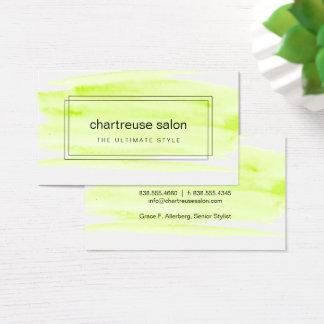 Boxas grön vattenfärg för limefrukt visitkort