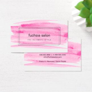 Boxas rosa vattenfärg visitkort