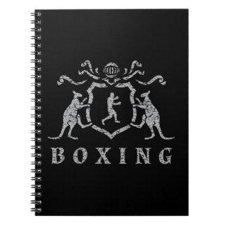 Boxas sköldanteckningsboken anteckningsbok