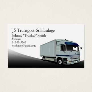 Boxas visitkorten för lastbiltransportsvarten visitkort