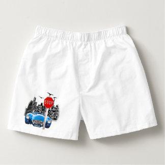 Boxers. för blåttbil- och cityscapebomull boxers