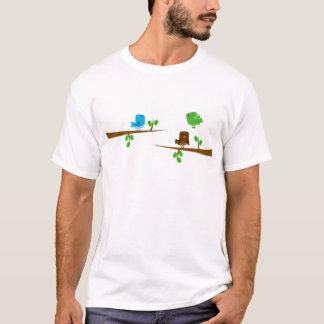 Boxy fåglar på grenar tee shirt