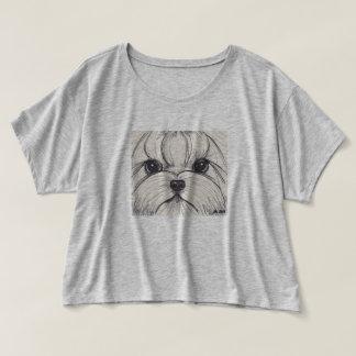 Boxy T skjorta för Yorkie Yorkshire Terrier T-shirts