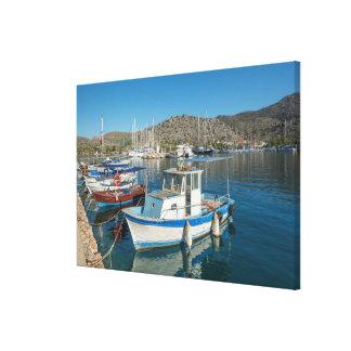 Bozburun hamn nära Marmaris, Turkiet Canvastryck