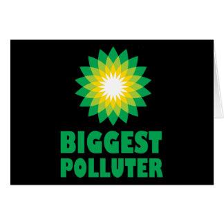 BP störst Polluter Hälsningskort