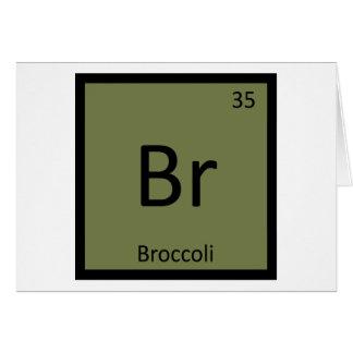 Br - periodiskt bord för broccoligrönsakkemi hälsningskort