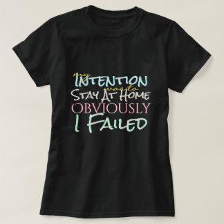 Bra avsikter men misslyckats tee shirts