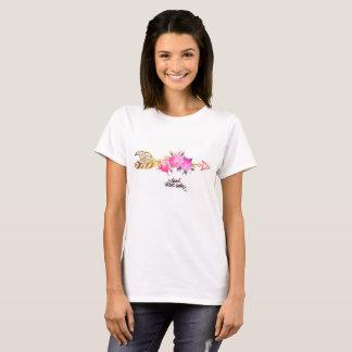 Bra blom- kvinna för Vibes endast t-skjorta T-shirts