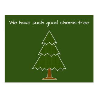 Bra Chemis-träd vits Vykort
