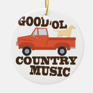 Bra countrymusik julgransprydnad keramik