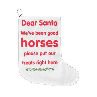 bra hästar stor julstrumpa