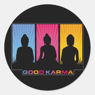 Bra Karma Buddhas Runt Klistermärke