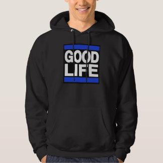 Bra livblått sweatshirt med luva