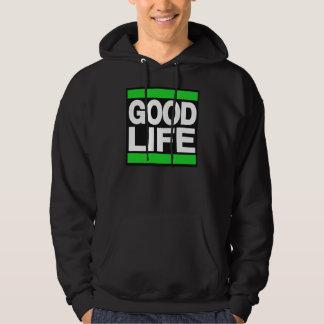 Bra livgrönt sweatshirt med luva