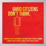 Bra medborgare tänker inte print