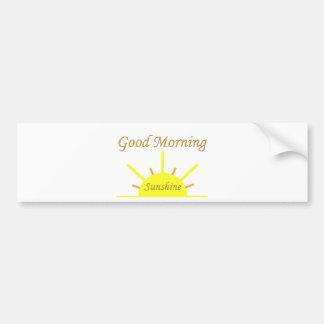 Bra morgonsolsken bildekal