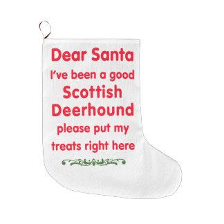 bra skotska Deerhound Stor Julstrumpa