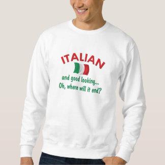 Bra tittar italienare lång ärmad tröja