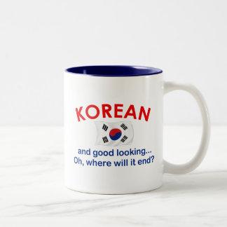 Bra tittar korean Två-Tonad mugg