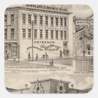 Bracketts kvarter, Minnesota Fyrkantigt Klistermärke