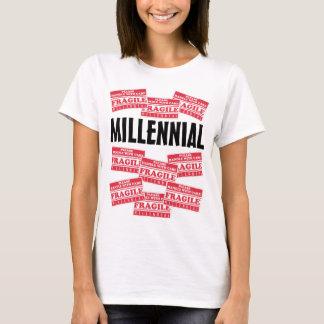 Bräckligt Millennial, handtag med omsorg Tshirts