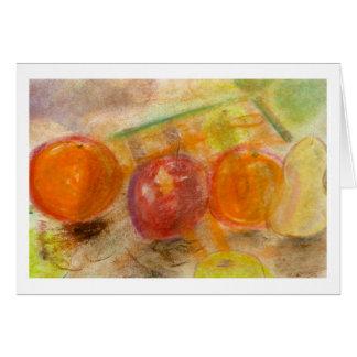 Brad Hines frukt i pastellfärgade Notecards OBS Kort