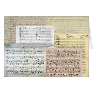 Brahms musikmanuskript hälsningskort