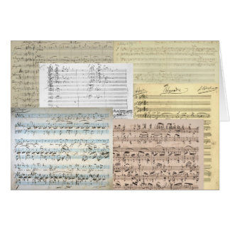 Brahms musikmanuskript kort