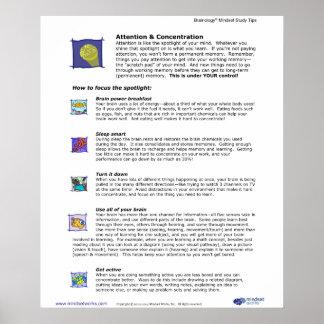 Brainology® affisch 3: Uppmärksamhet och koncentra