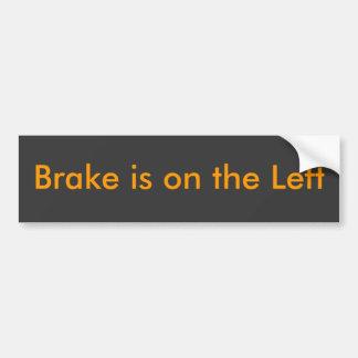 Brake är på det vänstert bildekal