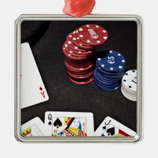 Bran för pokeröverdängarevad räcker julgransprydnad metall