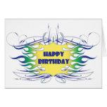 Bran specificerar födelsedagkortet hälsnings kort