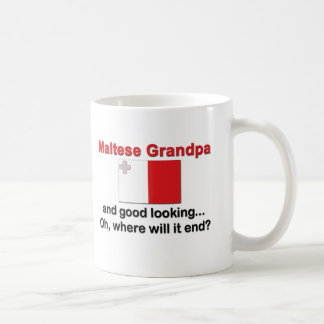 Bran tittar maltesisk morfar kaffemugg
