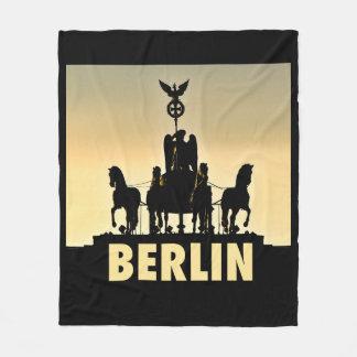 Brandenburg för BERLIN Quadriga 002,1 grind Fleecefilt