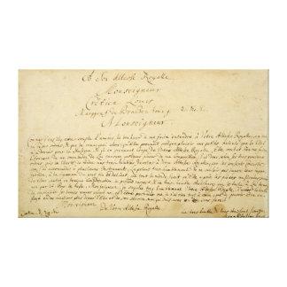 Brandenburger för handskriven dedikation 'konserte canvastryck
