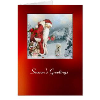 Brandi på jul hälsningskort