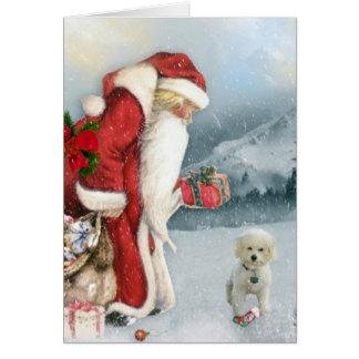 Brandi & pappa jul hälsningskort