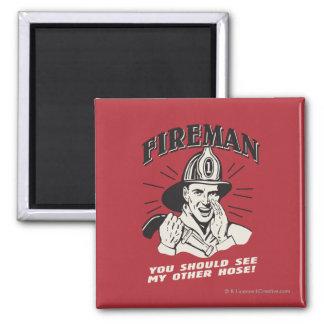 Brandman: Du bör se min annan vattna med slang Magnet