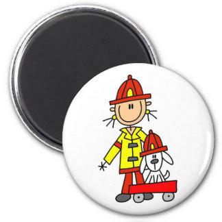 Brandman med Dalmation Tshirts och gåvor Magnet