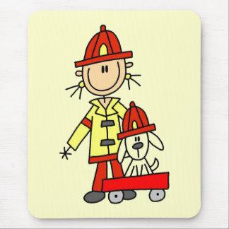 Brandman med Dalmation Tshirts och gåvor Musmatta