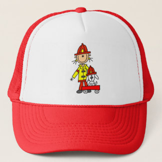 Brandman med Dalmation Tshirts och gåvor Truckerkeps