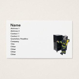Brandman och skåp visitkort