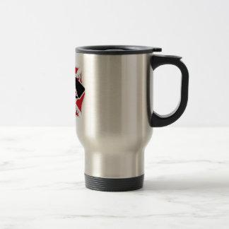 Brandmanflickväntravel mug rostfritt stål resemugg